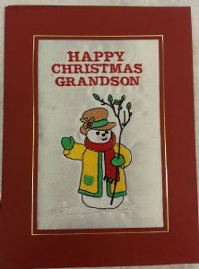 PERSONALISED  FRIENDLY SNOWMAN CHRISTMAS CARD